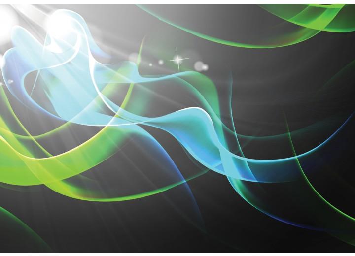 Fotobehang Vlies | Design | Grijs, Groen | 254x184cm
