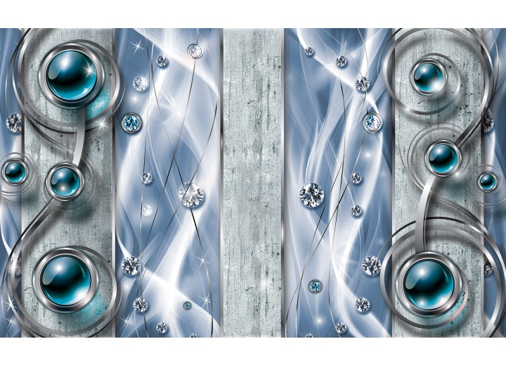 Fotobehang Vlies   Design, Modern   Blauw   254x184cm