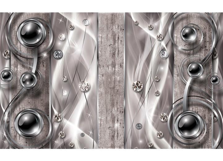 Fotobehang Vlies | Design, Modern | Zilver | 254x184cm
