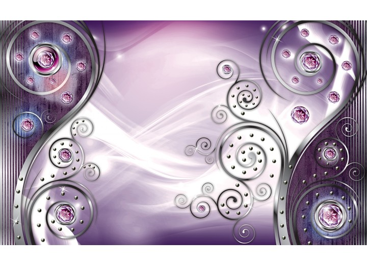 Fotobehang Vlies | Design, Modern | Paars | 254x184cm