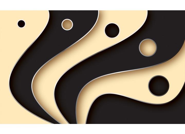 Fotobehang Vlies | Modern | Zwart | 254x184cm