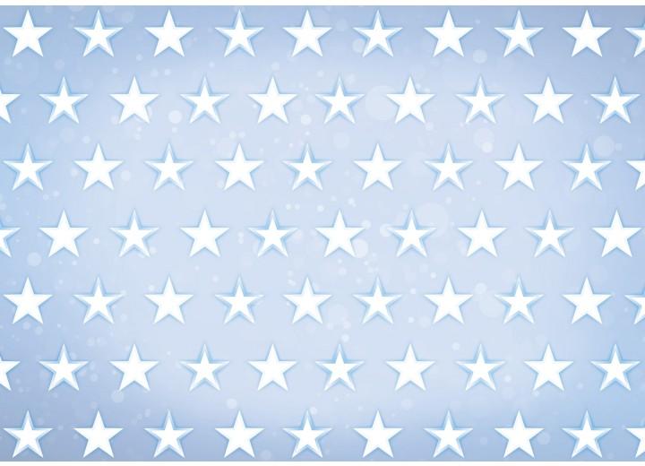 Fotobehang Vlies | Sterren | Blauw, Wit | 254x184cm