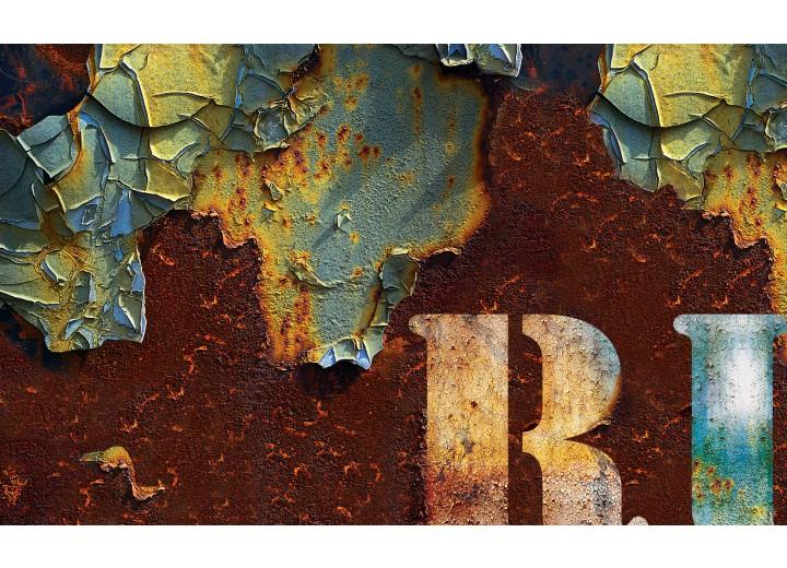 Fotobehang Vlies   Industrieel   Bruin, Groen   254x184cm