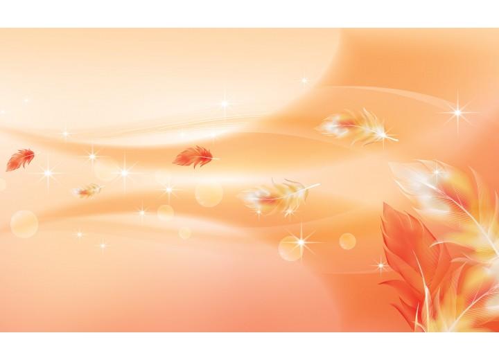 Fotobehang Vlies | Modern | Oranje | 254x184cm