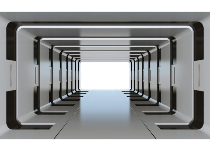 Fotobehang Vlies | 3D, Design | Grijs | 254x184cm