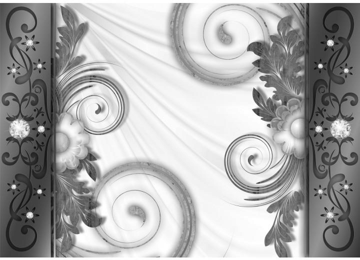 Fotobehang Vlies   Modern   Grijs, Wit   254x184cm