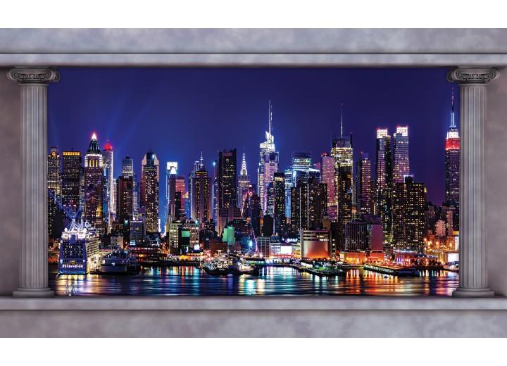 Fotobehang Vlies | Skyline | Blauw | 254x184cm