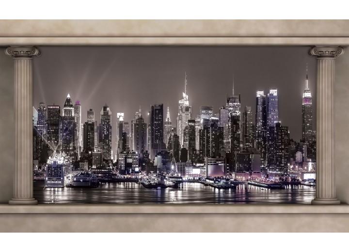 Fotobehang Vlies | Skyline | Grijs | 254x184cm