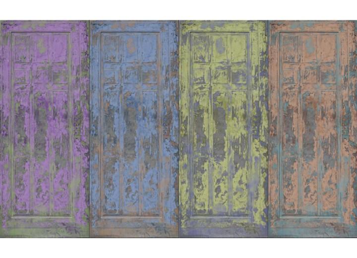 Fotobehang Vlies | Landelijk | Blauw, Paars | 254x184cm