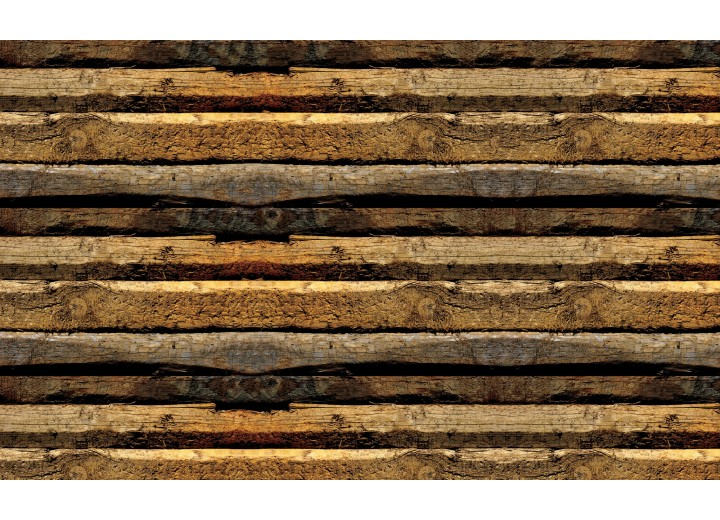 Fotobehang Vlies | Hout | Bruin | 254x184cm
