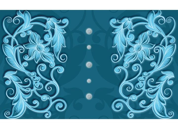 Fotobehang Vlies | Klassiek | Turquoise, Blauw | 254x184cm