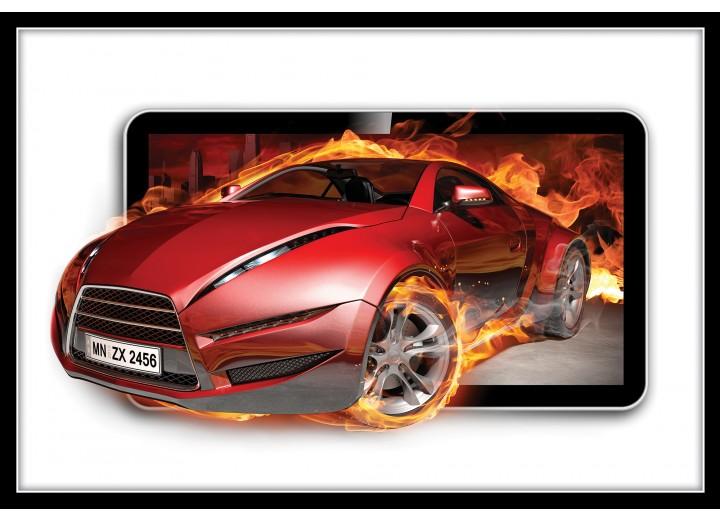 Fotobehang Vlies | Auto, Vuur | Rood | 254x184cm