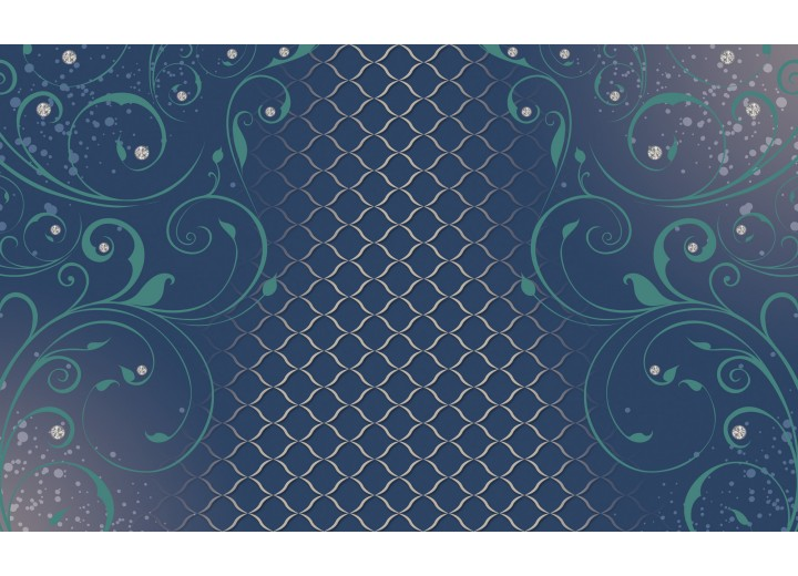 Fotobehang Vlies | Klassiek | Blauw, Groen | 254x184cm