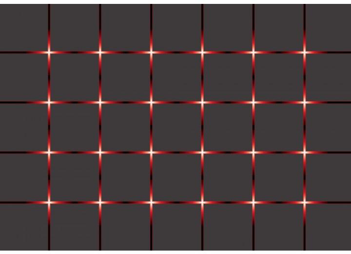 Fotobehang Vlies | Modern | Rood, Grijs | 254x184cm
