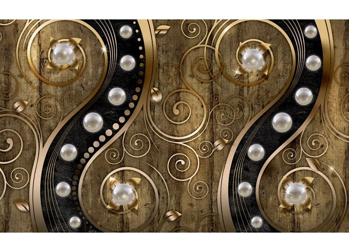 Fotobehang Vlies | Modern | Zilver, Goud | 254x184cm