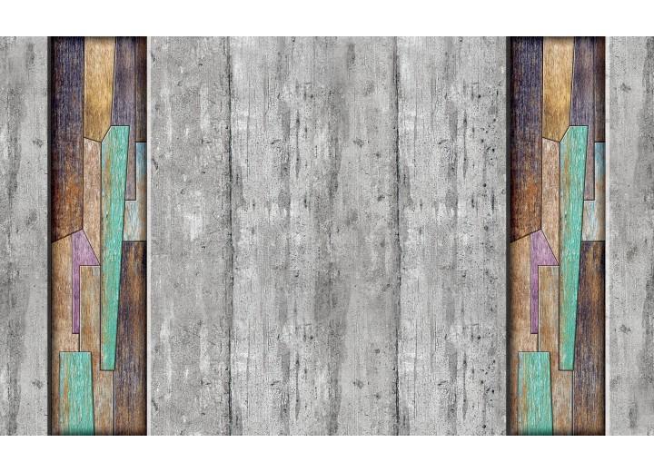 Fotobehang Vlies | Hout | Grijs, Bruin | 254x184cm