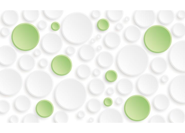 Fotobehang Vlies | Modern | Groen,Wit | 254x184cm