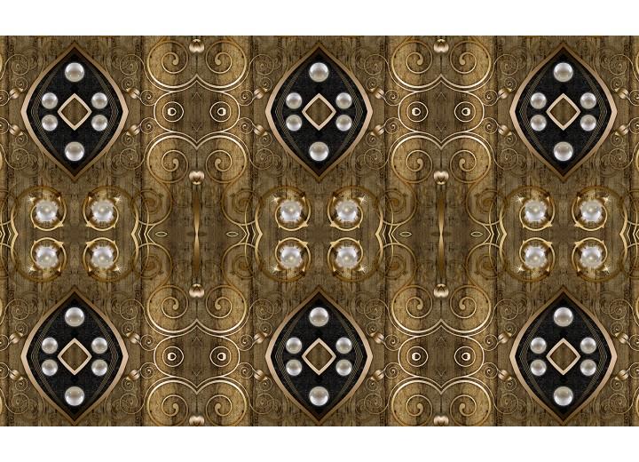 Fotobehang Vlies | Klassiek | Bruin, Zilver | 254x184cm