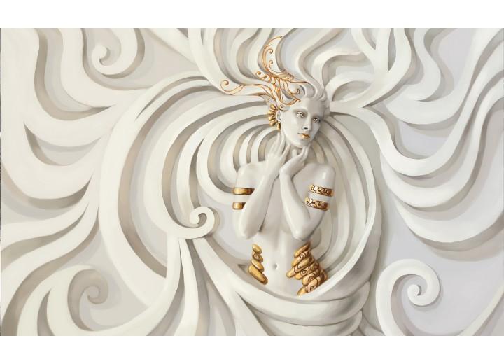 Fotobehang Vlies | 3D, Modern | Crème | 254x184cm