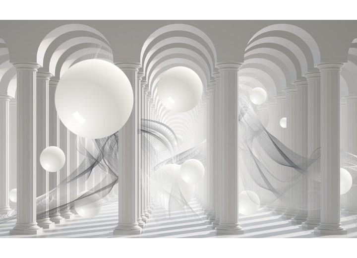 Fotobehang Vlies   3D, Modern   Wit   254x184cm