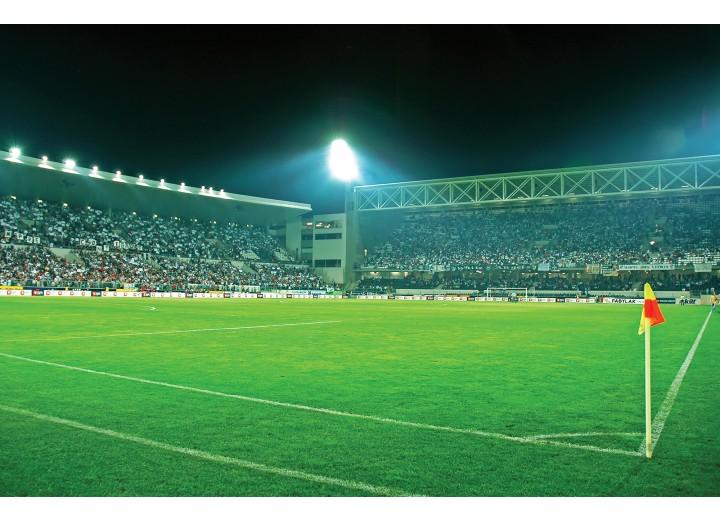 Fotobehang Vlies | Voetbalstadion | Groen | 254x184cm