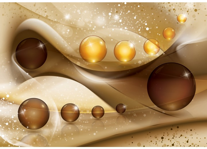 Fotobehang Vlies | Modern | Goud, Bruin | 254x184cm