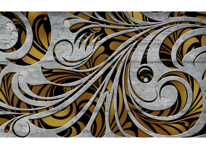 Fotobehang Vlies | Abstract | Grijs, Bruin | 254x184cm