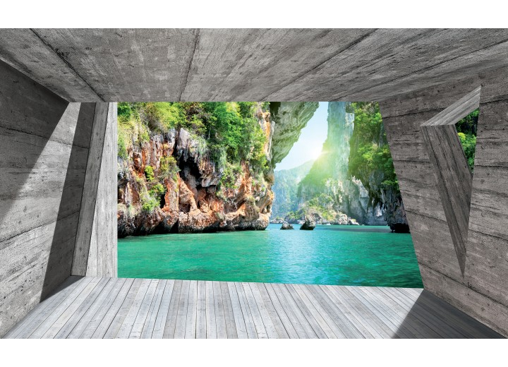Fotobehang Vlies   Natuur, Modern   Groen   254x184cm