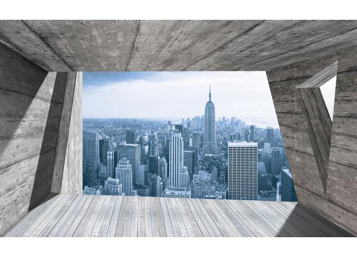 Fotobehang Vlies | Skyline, Modern | Blauw | 254x184cm