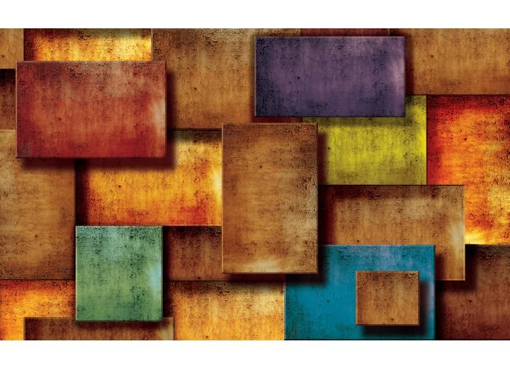 Fotobehang Vlies | 3D, Modern | Oranje | 254x184cm