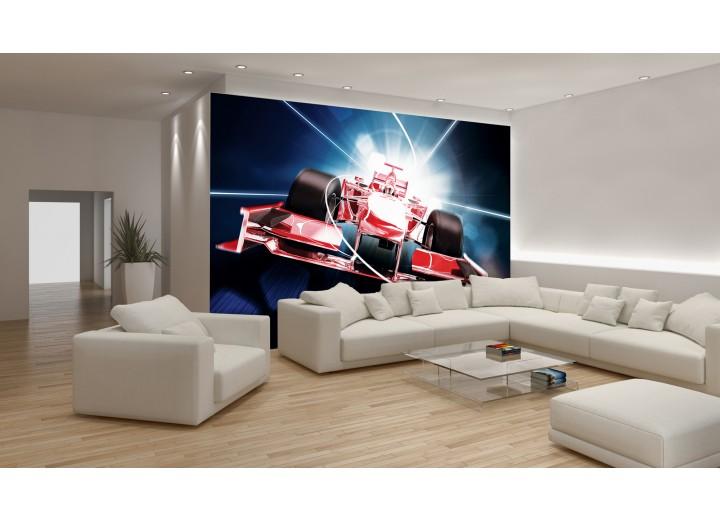 Fotobehang Formule 1.Fotobehang Papier Formule 1 Rood 254x184cm
