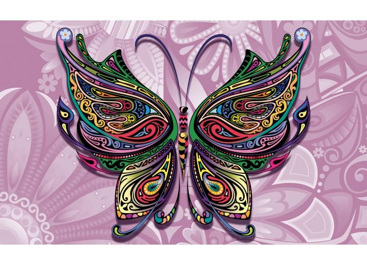 Fotobehang Vlies | Vlinder, Abstract | Paars | 254x184cm