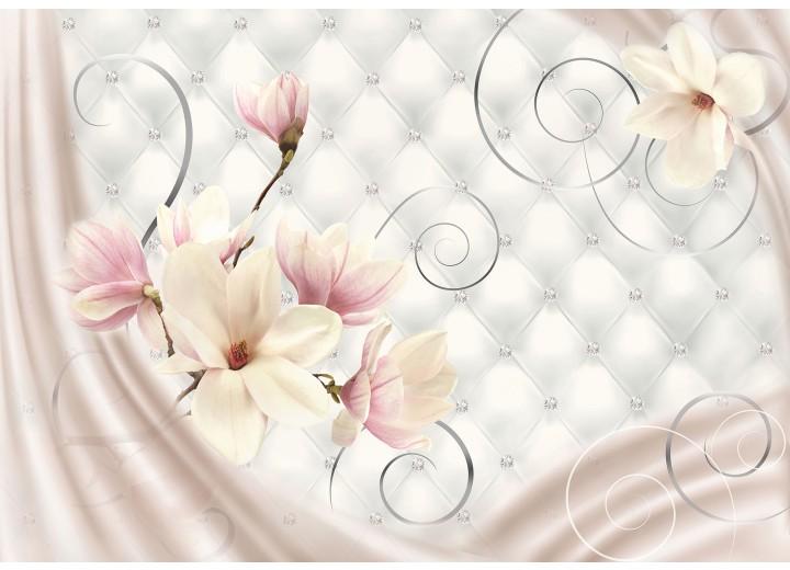 Fotobehang Vlies | Magnolia, Modern | Roze | 254x184cm
