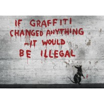 Fotobehang Papier Street Art   Grijs   368x254cm