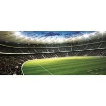 Fotobehang Voetbalveld | Groen | 250x104cm