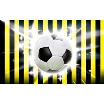 Fotobehang Papier Voetbal | Zwart, Geel | 368x254cm