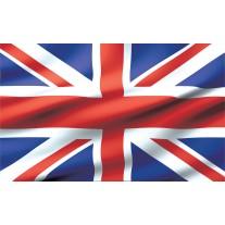 Fotobehang Papier Vlag | Blauw, Rood | 368x254cm