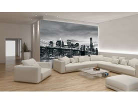 Fotobehang Vlies | New York | Zwart, Wit | 254x184cm