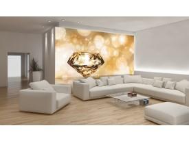 Fotobehang Vlies | 3D | Goud, Oranje | 254x184cm