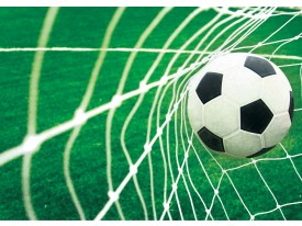 Fotobehang Voetbal | Groen, Wit | 152,5x104cm