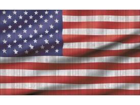 Fotobehang Vlag | Rood, Wit | 104x70,5cm