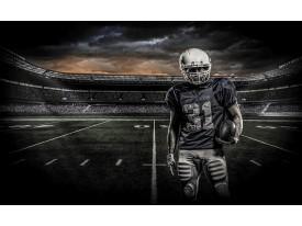 Fotobehang Voetbal | Grijs, Zwart | 104x70,5cm