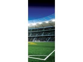 Fotobehang Voetbal | Groen | 91x211cm