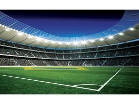 Fotobehang Voetbal | Groen, Blauw | 152,5x104cm