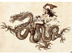 Fotobehang Alchemy Gothic | Bruin | 152,5x104cm