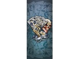 Deursticker Muursticker Alchemy, Gothic | Blauw | 91x211cm