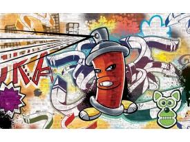 Fotobehang Graffiti | Groen, Geel | 104x70,5cm