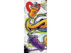 Fotobehang Graffiti | Paars | 91x211cm
