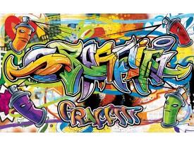 Fotobehang Papier Graffiti, Street art | Groen | 368x254cm