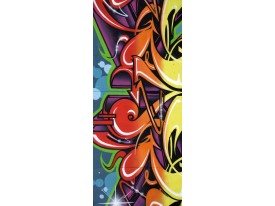 Fotobehang Graffiti | Rood | 91x211cm